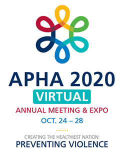 logo, APHA 2020, Creating the Healthiest Nation: Preventing Violence