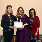 Rachel McMonagle and Surili Patel with Climate Affiliate Award winner