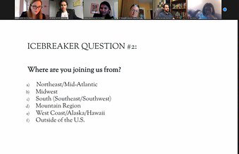 Icebreaker questions where are you joining us from?