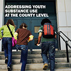 ADDRESSING YOUTH SUBSTANCE USE AT THE COUNTY LEVEL, three schoolchildren climbing stairs