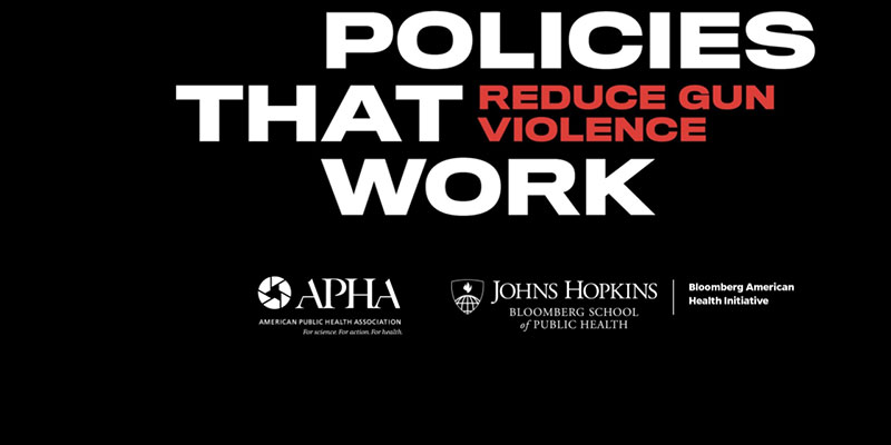 POLICIES THAT WORK REDUCE GUN VIOLENCE APHA JOHNS HOPKINS