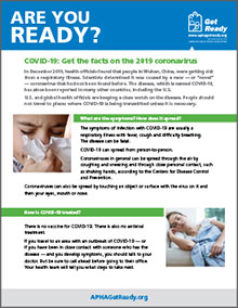 Are you ready? Image of fact sheet on coronavirus