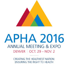Logo, APHA 2016 Annual Meeting and Expo, Denver, Oct. 29-Nov. 3