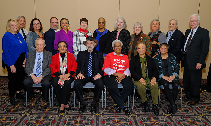 APHA past presidents pose for photo