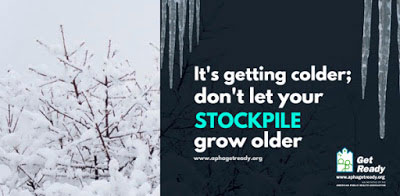 It's getting colder; don't let your stockpile grow older